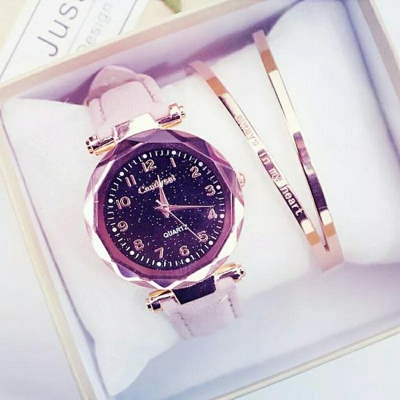 Accessories - Women's Watches Fashion Starry Sky Quartz Wristwat